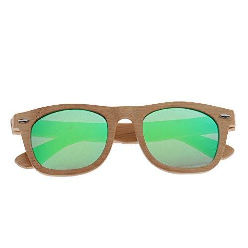 Soleil en vert Lunette Lunette de Bambou Boîte Protection boîte Baoblaze 400 Homme UV Femme Cadre Bois fE1HxxWIqw
