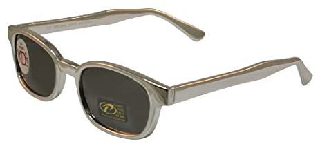 Pacific Coast Original KD's Biker Sunglasses (Black Frame/Clear Lens) 9sreneX