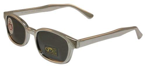 Pacific Coast Original KD - anteojos de sol, Marco negro/Lente de superficie de espejo plateado