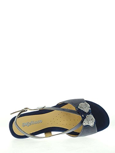 MELLUSO 08736 Blu - Sandalias de vestir de Piel para mujer Azul azul Azul