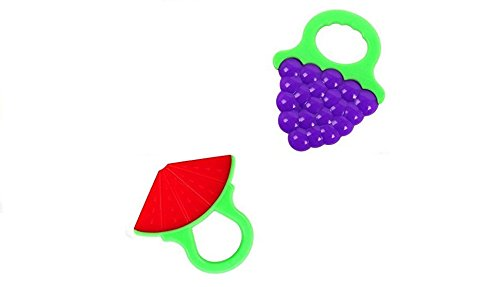 Price comparison product image FIC R&W Soft Silicon FDA Approved BPA Free Blue Grapes and Watermelon Baby Teething Toys