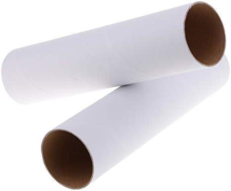 2本入り DIY塗装 子供の描画 絵用 白い紙管 ビー用素材  工芸品製作 手工芸品 装飾 全3サイズ - 高さ250mm
