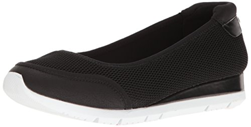 Anne Klein AK Sport Women's WINA Fabric Flat Black/Multi 8 M US
