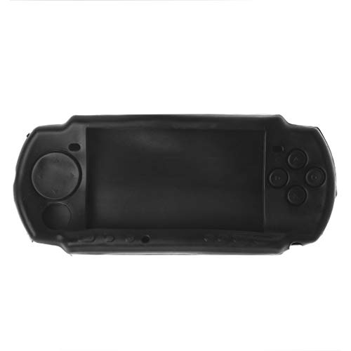 (Protective Soft Rubber Silicone Skin Case Cover for PSP 2000 3000 Black)