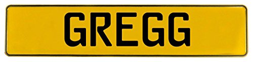 - Vintage Parts 649280 Yellow Stamped Aluminum Street Sign Mancave Wall Art (Gregg)