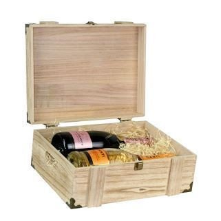 Shallow Wooden Chest Display Box