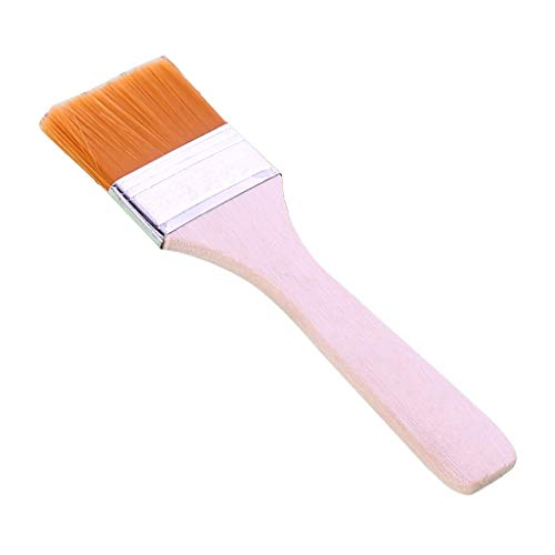 Puxiaoa Portable BBQ Brush Oil Painting Brush Wooden Handle Barbecue Utensil use for Grilling & Marinating - Desserts Baking Pink G