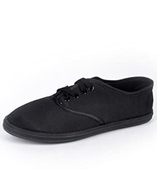 s classic black canvas shoes fashion