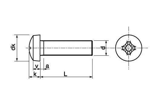 50 Stk DIN 7985 A2 M 2.5X25 Linsenkopfschrauben PH EDELSTAHL V2A A2