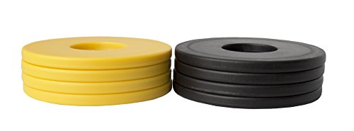 Washer Yard Toss Replacement Pitching Set (Black/Gold, Set of 8)