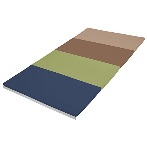 Section Four (ECR4Kids SoftZone 4-Section Folding Panel Kids Tumbling Exercise Mat, 4 x 8 Feet, 1.5 Inches Thick, Earthtone)