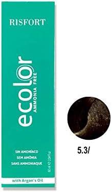 Tinte Ecolor Nº 5.3 Castaño Claro Dorado: Amazon.es: Belleza