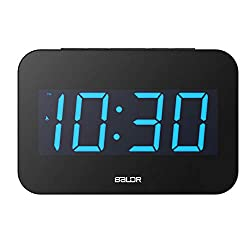 TENCO Simple Plug in Electric Alarm Desk Clocks for Bedroom,7.5 inch Large Digital LED Display,Dimmable Backlight,Great for Seniors Kids