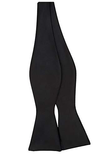 Jacob Alexander Men's Self Tie Freestyle Solid Color Bowtie - Black ()