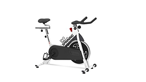 Spinning Spinner S1 Indoor Cycling Bike with Four Spinning DVDs, White