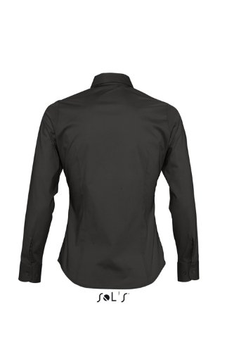 SOL´S - Ladies Long Sleeved Stretch Shirt Eden XS,Black