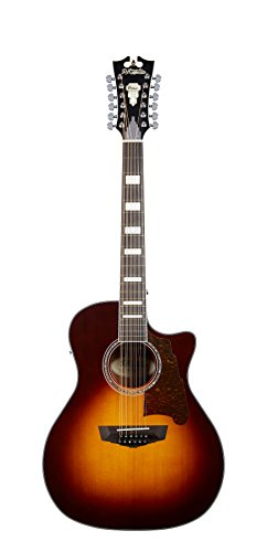 D'Angelico Premier Fulton 12-String Acoustic-Electric Guitar - Vintage Sunburst