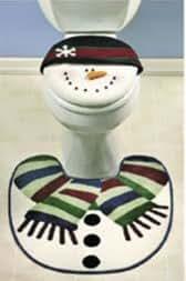 Amazon Com Snowman Bathroom Toilet Seat Cover Snowmen Rug Decor Nnow