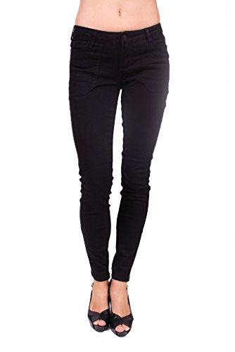 Celebrity Pink Jeans Women Black Skinny Jeans with Pork Chop Front Pockets 7 Black -