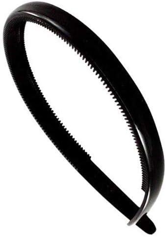 Fermacapelli accessori cerchietti per capelli 10-001 Made in France Cerchietto per capelli con dentini cm 1 nero