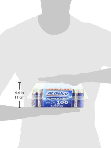 Acdelco Aa Batteries Alkaline Battery 100 Count Bulk Pack