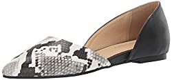 Cl By Chinese Laundry Women S Hearty Ballet Flat Off White Black Snake 7 5 M Us