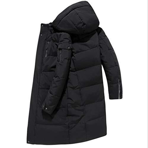 D'hiver Xl Doudoune Noir Chaud couleur Homme Mode Chaud Longue Brown Taille Section Veste Casual wrq7fXrv