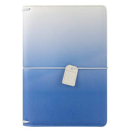 (Classic Savannah Simulated Leather Elastic Travelers Cover - Sky Blue)
