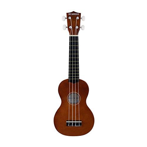 Soprano Ukulele For Beginners Four String Ukulele Start Pack W/ Gig Bag Tuner Picks Polish Cloth Extra Strings (Brown) - Image 1