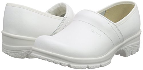 1 White Unisex San o2 Closed Sanita duty Clogs Adults' white 1Bwaqxa