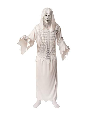 Rubie's Unisex Opus Collection Adult Hooded Ghost Costume, White/Grey, Standard