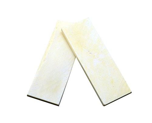 RECHERE 2PCS Bovine bone Knife Handle Scales Slabs for Sword Knives Making 8.5x3x0.5cm