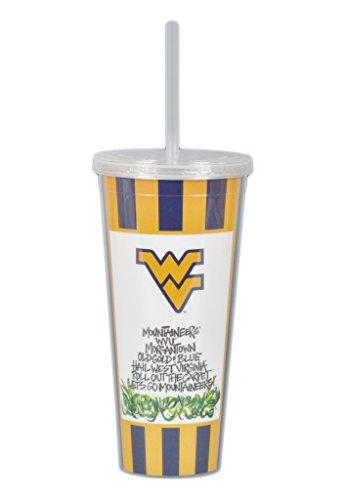 West Virginia University 22oz Tumbler with Straw