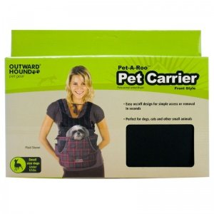 Outward Hound Front Carrier, Small, Black, My Pet Supplies