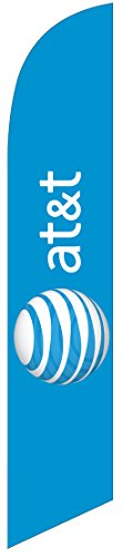 NEW AT&T Wireless (ltblue) Feather Banner Swooper Flag - Replacement FLAG ONLY