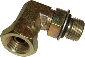 Boss Part # HYD01620 - Hydraulic Swivel Fitting 90 Degree Manifold 1/4 ORS x 1/4 FPS ()
