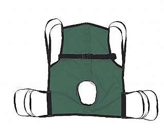 Hoyer One Piece Sling with Commode Opening ()