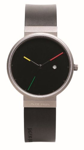 Jacob Jensen 640 Mens Titanium Black Watch