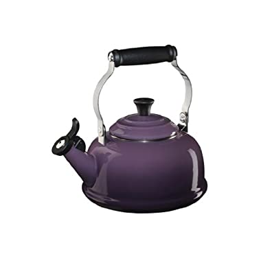Le Creuset Enameled Steel Classic Tea Kettle, 1.7-Quart, Cassis