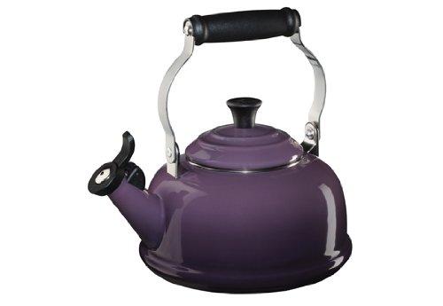 Le Creuset Enameled Steel Classic Tea Kettle, 1.7-Quart, Cassis