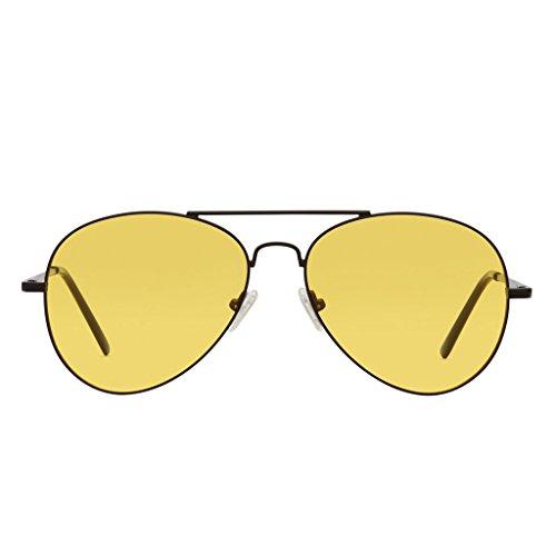 PERVERSE sunglasses Free Spirit Yellow Sunglasses (Demi-matte, - Perverse Spirit