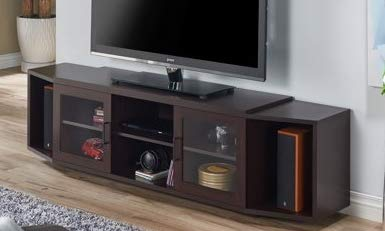 (70 Inch Tv Stand - Walnut Wood with Multiple Storage - Display Your TV in Style)