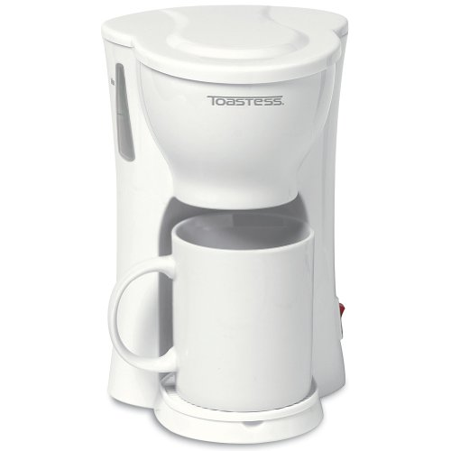 One Cup Space Saving Coffee Maker - Personal Compact Brewer With A Cup