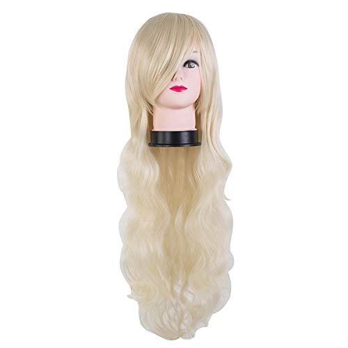 (Black Wig Synthetic Heat Resistant Carnival Long Curly Hair Female Women Party Halloween Costume Cosplay)