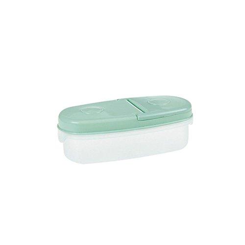 Sealed Crisper (Sealed Crisper Food Storage Jar Box Container Refrigerator Kitchen Tools Plastic color green)