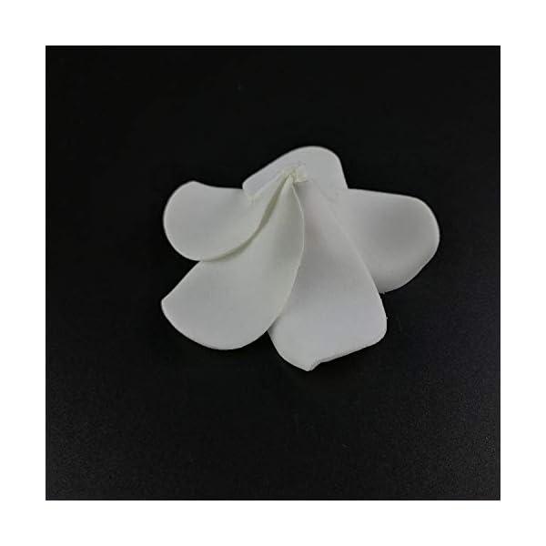 100PCS Plumeria Hawaiian PE Foam Frangipani Artificial Flower Headdress Flowers Egg Flowers Wedding Decoration Party Supplies,0,4CM