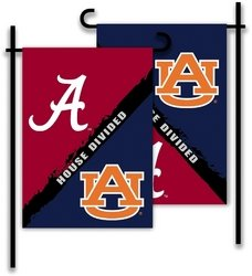 Bsi Products, Inc. - Alabama - Auburn-2-Sided Garden Flag - Rivalry House Divided from BSI