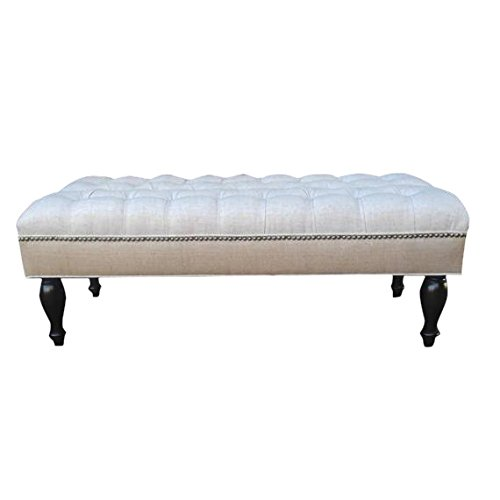 Design 59 inc. LARGE Tufted Ottoman/Footstool/Upholstered Coffee Table, 46