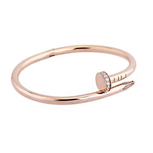 Guanjie Titanium Steel Bracelet Ladies Fashion Classic Lovely Bracelet Ladies Gift Bracelet (Rose Gold Bracelet) ()