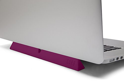 designed by many, CURB Universal & Portable Ergonomic Laptop Stand, Lightweight Dual Viewing Position, Pink by designed by many (Image #3)'